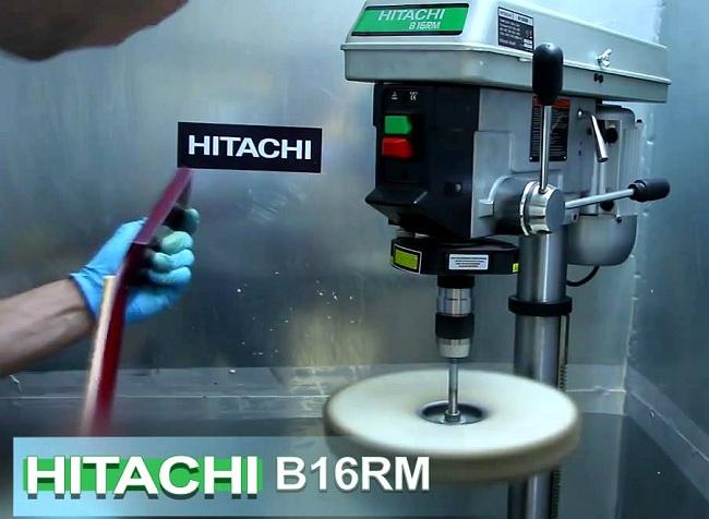Процесс работы на вертикальном сверлильном станке Хитачи B16RM