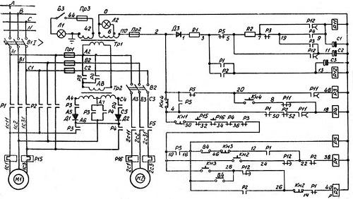 Электронная схема станка 2Н135