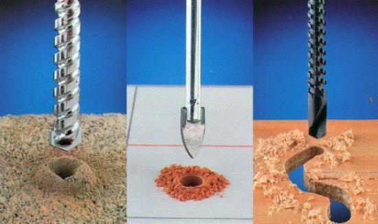 Сверление кафельной плитки различными сверлами