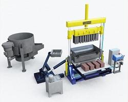 Бетоносмеситель и станок для изготовления керамзитобетонных блоков