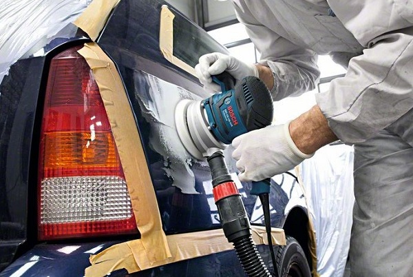 Орбитальная шлифмашинка для ремонта кузова автомобиля