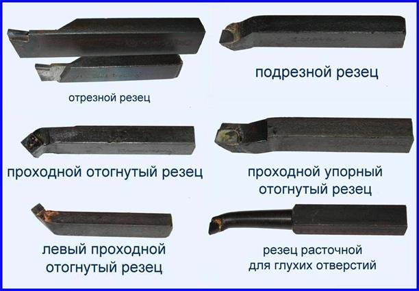 Различные виды резцов по металлу