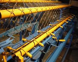 Плетение рабицы на станке