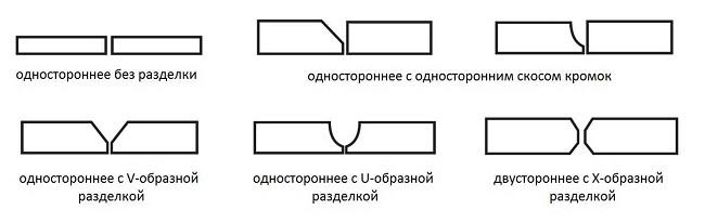 Способы разделки швов