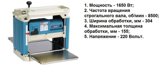 Основные технические характеристики станка