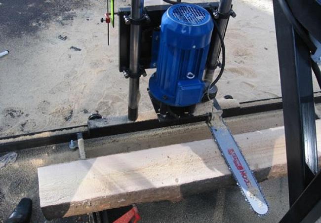 Самодельный деревообрабатывающий станок из электропилы