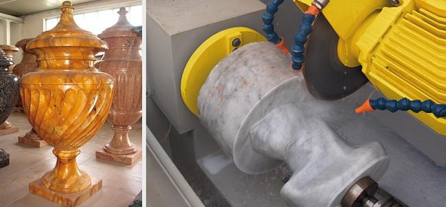Создание сложных фигурных изделий из камня при помощи станка