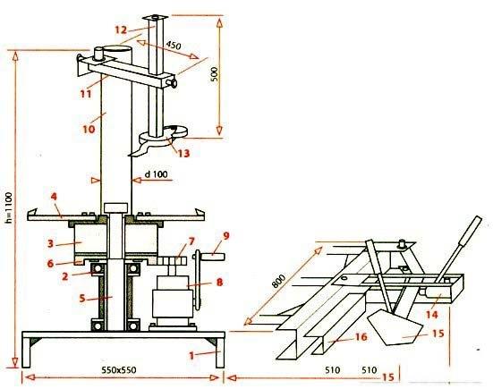 Схема шиномонтажного станка
