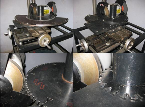 Самодельный заточный станок, предназначенный для алмазной заточки дисковых пил с твердосплавными напайками