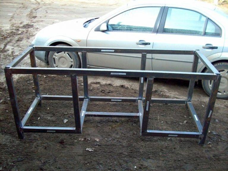 Металлический стол в гараж своими руками