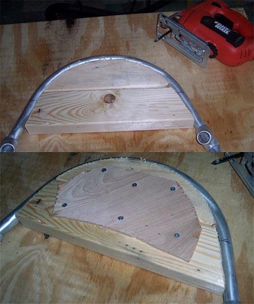 Гибка на деревянном шаблоне