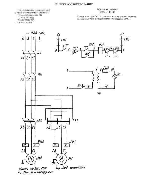 Схема электрооснастки СФ-676