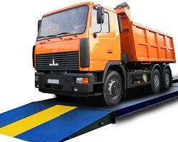 Взвешивание грузовика на платформенных весах